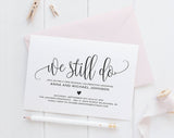 Vow Renewal Invitation, Vow Renewal Invite, We still do invitations, Wedding anniversary invitations, PDF Instant Download #BPB203_68 - Bliss Paper Boutique