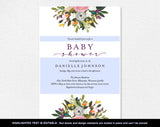 Baby Shower Invitation, Baby Shower Invitation Template, Invitation Printable, Girl Baby Shower Invite, DIY, PDF Instant Download #BPB328_1 - Bliss Paper Boutique