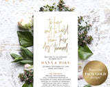 Wedding Program Template, Gold Wedding Program Printable, Ceremony Printable Template, Editable Program, PDF Instant Download #BPB323_3 - Bliss Paper Boutique