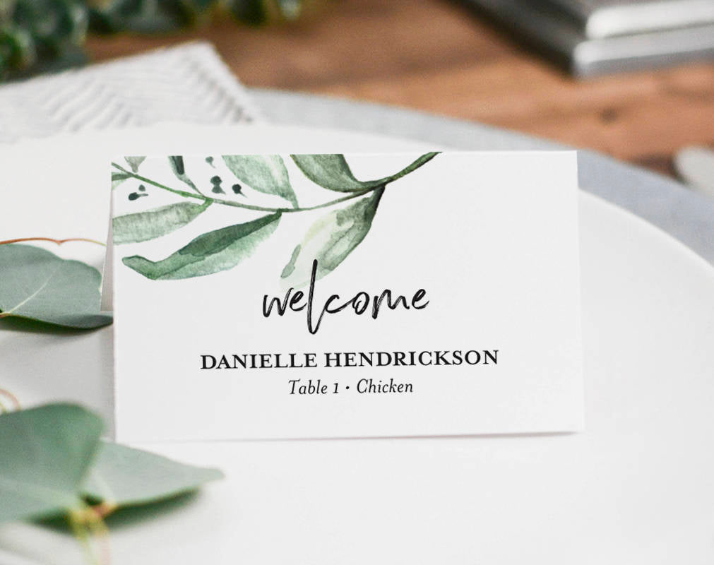 graphic about Printable Place Card named Destination Playing cards Marriage, Point Playing cards Printable, Point Playing cards for Marriage, Greenery Wedding ceremony, Point Card Template, PDF Prompt Down load #BPB330_6