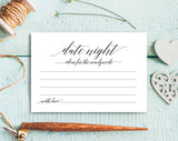 Date Night Cards, Date Night Ideas, Date night idea cards, wedding advice cards, for the bride and groom, PDF Instant Download #BPB310_16 - Bliss Paper Boutique