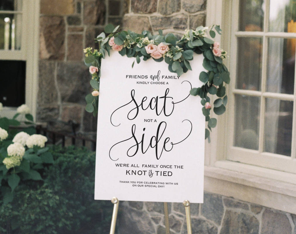 Sign Set of 3 Please Sign Our Guestbook Wedding Decorations Eat Drink /& Be Married Pick A Seat Not a Side