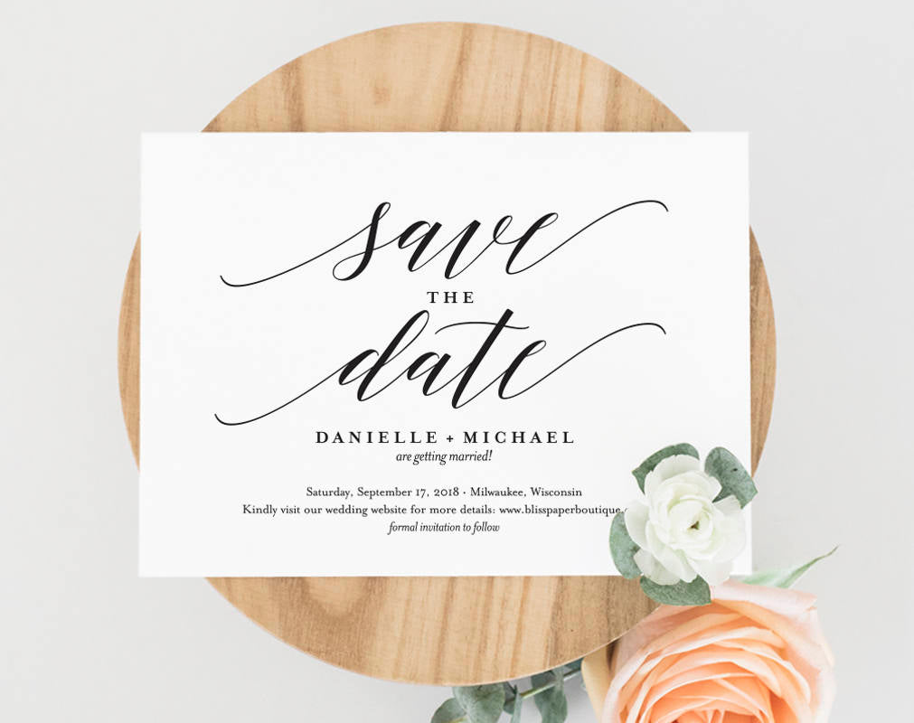 save the date template  save the date cards  save the date printable   u2013 bliss paper boutique