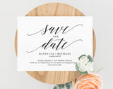 Save the Date Template, Save the Date Cards, Save the Date Printable, Postcard, Bliss Paper Boutique, PDF Instant Download #BPB310_2B - Bliss Paper Boutique
