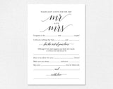 Wedding Mad Libs, Mad Libs Wedding, Wedding Madlibs, Wedding Games, Wedding Advice, Advice Cards, PDF Instant Download #BPB310_20 - Bliss Paper Boutique