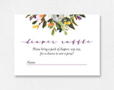 Diaper Raffle Ticket, Diaper Raffle Printable, Diaper Raffle Cards, Diaper Raffle Sign, Baby Shower Game, PDF Instant Download #BPB328_2C - Bliss Paper Boutique