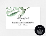 Place Cards Wedding, Place Cards Printable, Place Cards for Wedding, Greenery Wedding, Place Card Template, PDF Instant Download #BPB330_6 - Bliss Paper Boutique
