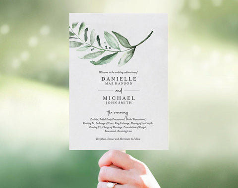 Wedding Program Fan, Wedding Program Template, Fan Template, Template Download, Bliss Paper Boutique, PDF Instant Download #BPB330_3_1 - Bliss Paper Boutique
