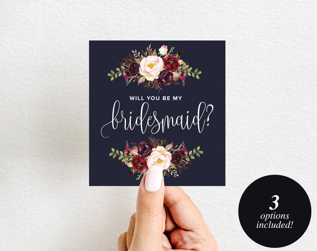 graphic about Printable Wine Label identified as Will Yourself Be My Bridesmaid Wine Label Printable, Wine Label Template, Maid of Honor, Bliss Paper Boutique, PDF Prompt Down load #BPB326_4