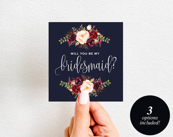 Will You Be My Bridesmaid Wine Label Printable, Wine Label Template, Maid of Honor, Bliss Paper Boutique, PDF Instant Download #BPB326_4 - Bliss Paper Boutique