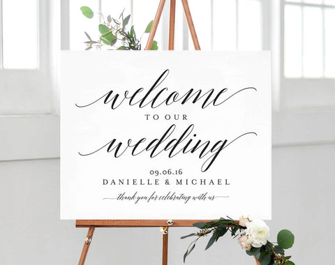 Welcome Wedding Sign, Welcome Wedding Printable, Welcome Sign Printable, Template, Bliss Paper Boutique, PDF Instant Download #BPB310_59B - Bliss Paper Boutique