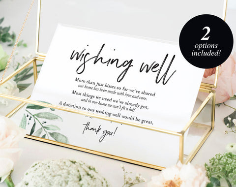 Wishing Well Card, Wedding Wishing Well, Wishing Well Printable, Wedding Insert, Wish Well, lieu of gifts, PDF Instant Download #BPB330_25 - Bliss Paper Boutique