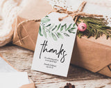 Greenery Thank You Tag, Wedding Thank You Tags, Gift Tags, Wedding Favor, Bliss Paper Boutique, PDF Instant Download #BPB330_32 - Bliss Paper Boutique