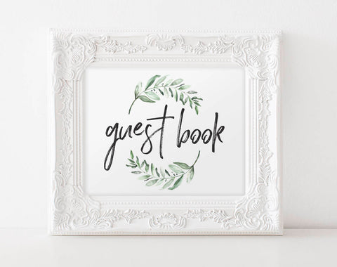 Guest Book Wedding, Guest Book Sign, Guest Book Ideas, Guest Book Sign Template, Bliss Paper Boutique, PDF Instant Download #BPB330_41 - Bliss Paper Boutique