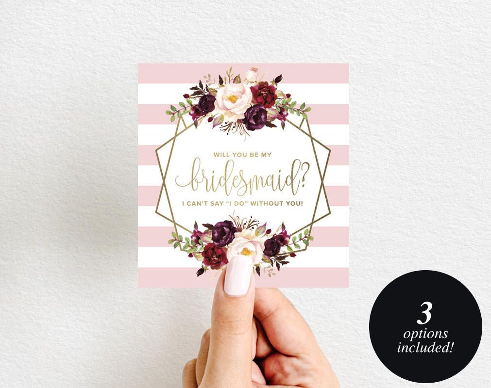 Will You Be My Bridesmaid Wine Label Printable, Wine Label Template ...