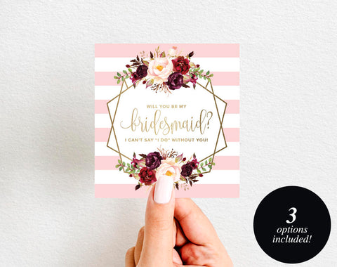 Will You Be My Bridesmaid Wine Label Printable, Wine Label Template, Maid of Honor, Bliss Paper Boutique, PDF Instant Download #BPB326_6 - Bliss Paper Boutique
