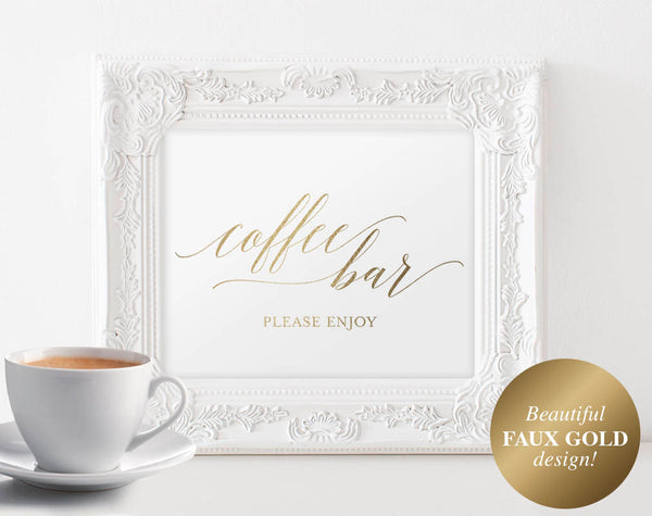 Coffee Bar Sign, Coffee Bar Printable, Coffee Bar Table, Coffee Bar Decor, Bliss Paper Boutique, PDF Instant Download #BPB324_85 - Bliss Paper Boutique
