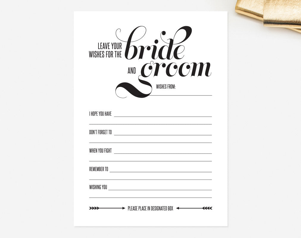 graphic regarding Mad Libs Printable Pdf referred to as Marriage Crazy Libs Card Go away Your Would like for the Bride and Groom Suggestions Printable Template - Romantic relationship Assistance Keepsake #BPB48