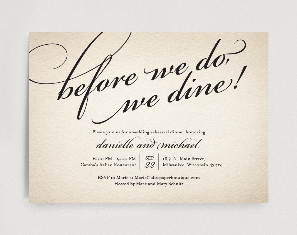 Wedding Rehearsal Dinner Invitation Editable Template - Before we do ...