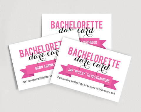 Bachelorette Dare Cards - Activity Cards - Bachelorette Party Games - Printable Wedding Game #BPB122 - Bliss Paper Boutique