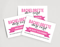 Recipe Card Black and White Bachelorette Printable Bridal Shower Games DIGITAL FILE Activities BW1001