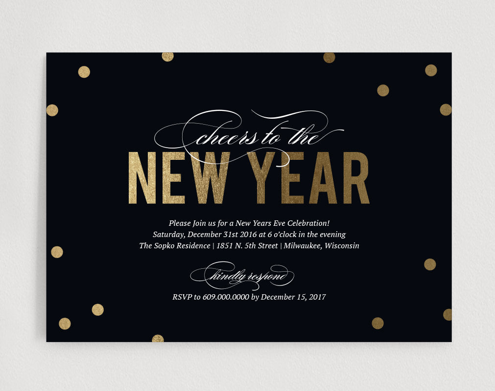 new years eve invitation printable gold glitter invitation cheers to the new year