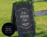 Wedding Welcome Sign, Wedding Sign, Let the Adventure Begin, Welcome to our Wedding Sign, Wedding Printable, PDF Instant Download #BPB250 - Bliss Paper Boutique