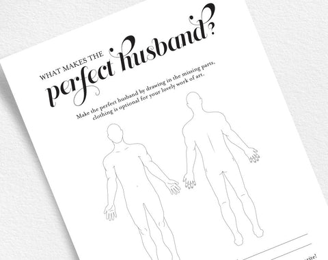 The Perfect Husband Bridal Shower Game, Wedding Shower Games, Bridal Shower Printable Game, Template, PDF Instant Download #BPB42_39 - Bliss Paper Boutique