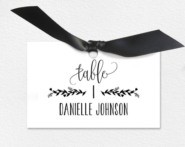 Wedding Place Cards, Wedding Place Card Printable, Place Card Template, Wedding Printable, Rustic Wedding, PDF Instant Download #BPB224_6 - Bliss Paper Boutique