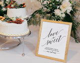 Love is Sweet Printable, Love is Sweet Sign, Dessert Table Sign, Wedding Printable, Wedding Reception Sign, PDF Instant Download #BPB310_43 - Bliss Paper Boutique
