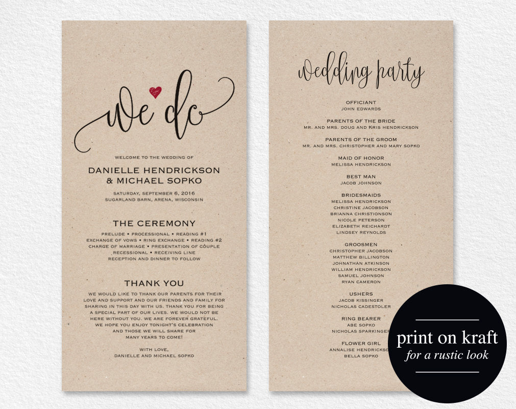 graphic about Printable Wedding Programs called Marriage ceremony Computer software Editable Template, We Do Marriage Application Printable, Rite Printable, Marriage Printable, PDF Instantaneous Obtain #BPB234_3