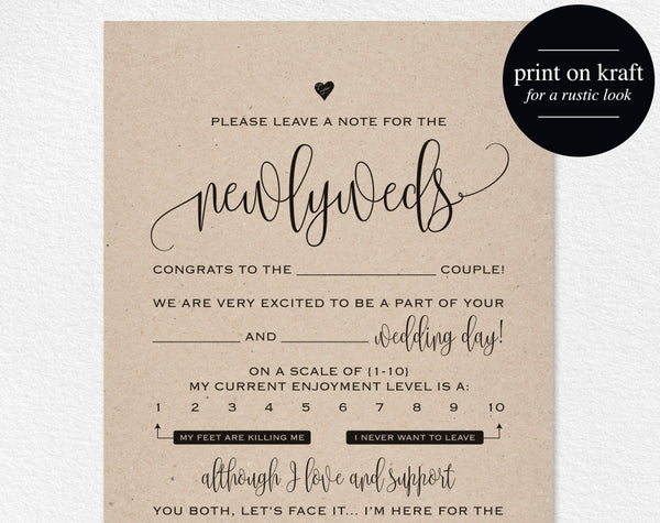 Wedding Mad Libs, Mad Lib Printable, Wedding Advice, Mad Lib, Guest Book Mad Libs, Mad Lib Advice, Wedding Game, Instant Download #BPB203_20 - Bliss Paper Boutique