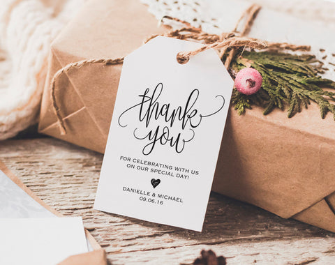 Thank You Tag, Wedding Thank You Tags, Gift Tags, Wedding Favor, Thank You Printable, Wedding Printable, PDF Instant Download #BPB203_32 - Bliss Paper Boutique