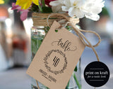 Wedding Table Numbers, Printable Table Numbers, Rustic Table Numbers, 4x6 Table Numbers, 5x7 Table Numbers, PDF Instant Download #BPB224_7 - Bliss Paper Boutique