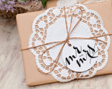 Mr and Mrs Wedding Tag, Round Wedding Tag, Wedding Tag Printable, Bellyband, Brown Kraft Tag, Embellishment, PDF Instant Download #BPB133_33 - Bliss Paper Boutique