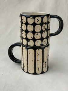 SPOT N STRIPE MUGS
