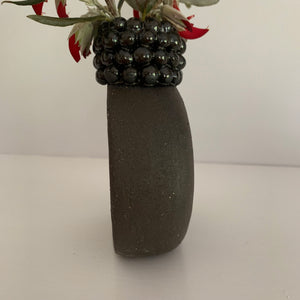 CHOCOLATE BEAD VASE