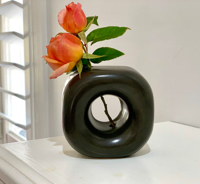 SQUARE BUT ROUND BUD VASE