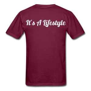 Lifestyle Tee - burgundy