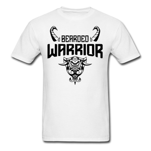 Bearded Warrior Men's T-Shirt White - white