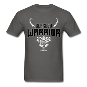 Beard Warrior Men's T-Shirt Black - charcoal
