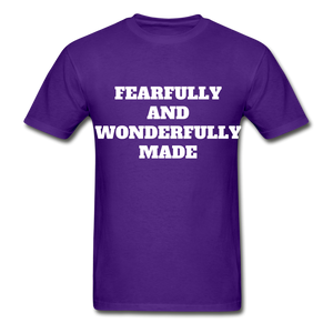 FEARFULLY AND WONDERFULLY MADE Ultra Cotton Adult T-Shirt - purple