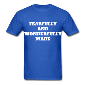 FEARFULLY AND WONDERFULLY MADE Ultra Cotton Adult T-Shirt - royal blue
