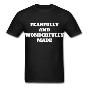 FEARFULLY AND WONDERFULLY MADE Ultra Cotton Adult T-Shirt - black