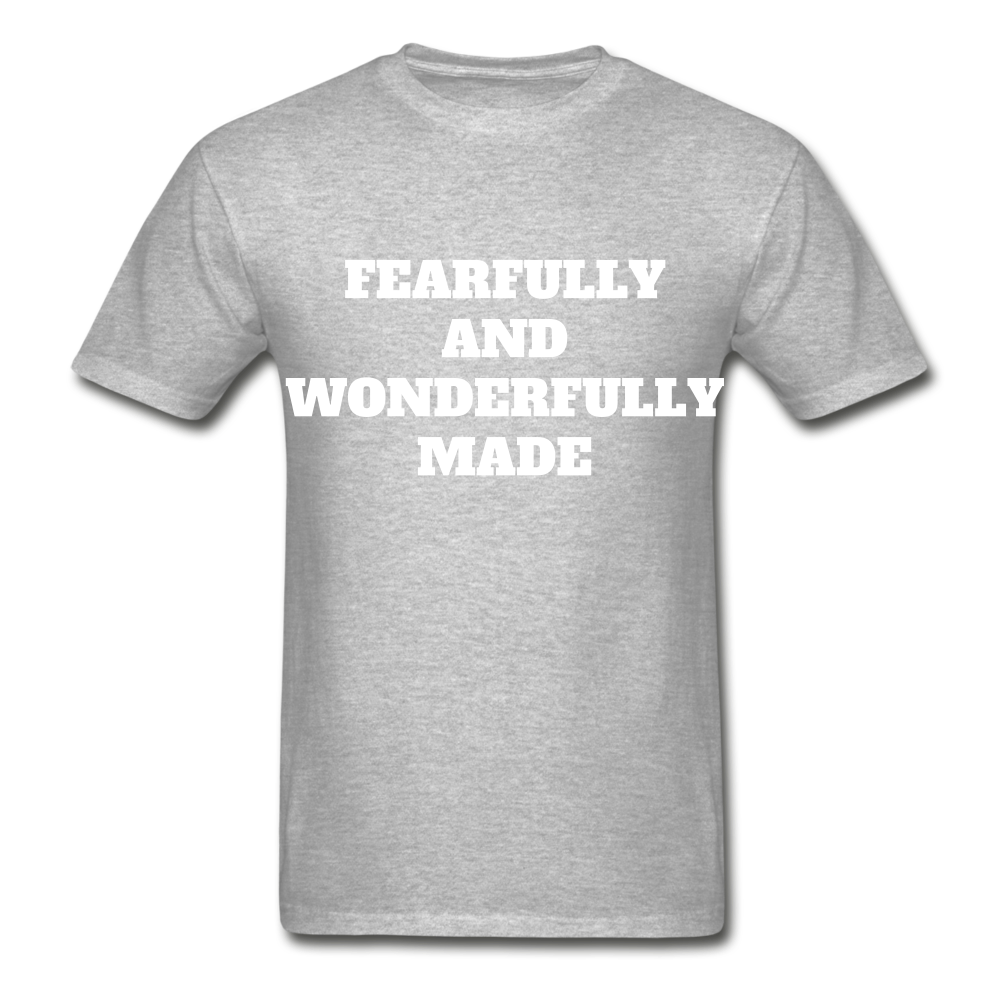 FEARFULLY AND WONDERFULLY MADE Ultra Cotton Adult T-Shirt - heather gray