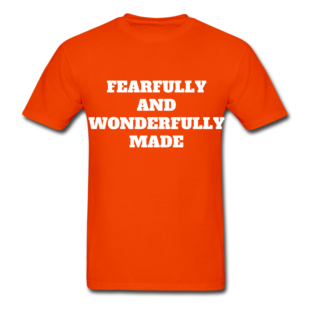 FEARFULLY AND WONDERFULLY MADE Ultra Cotton Adult T-Shirt - orange