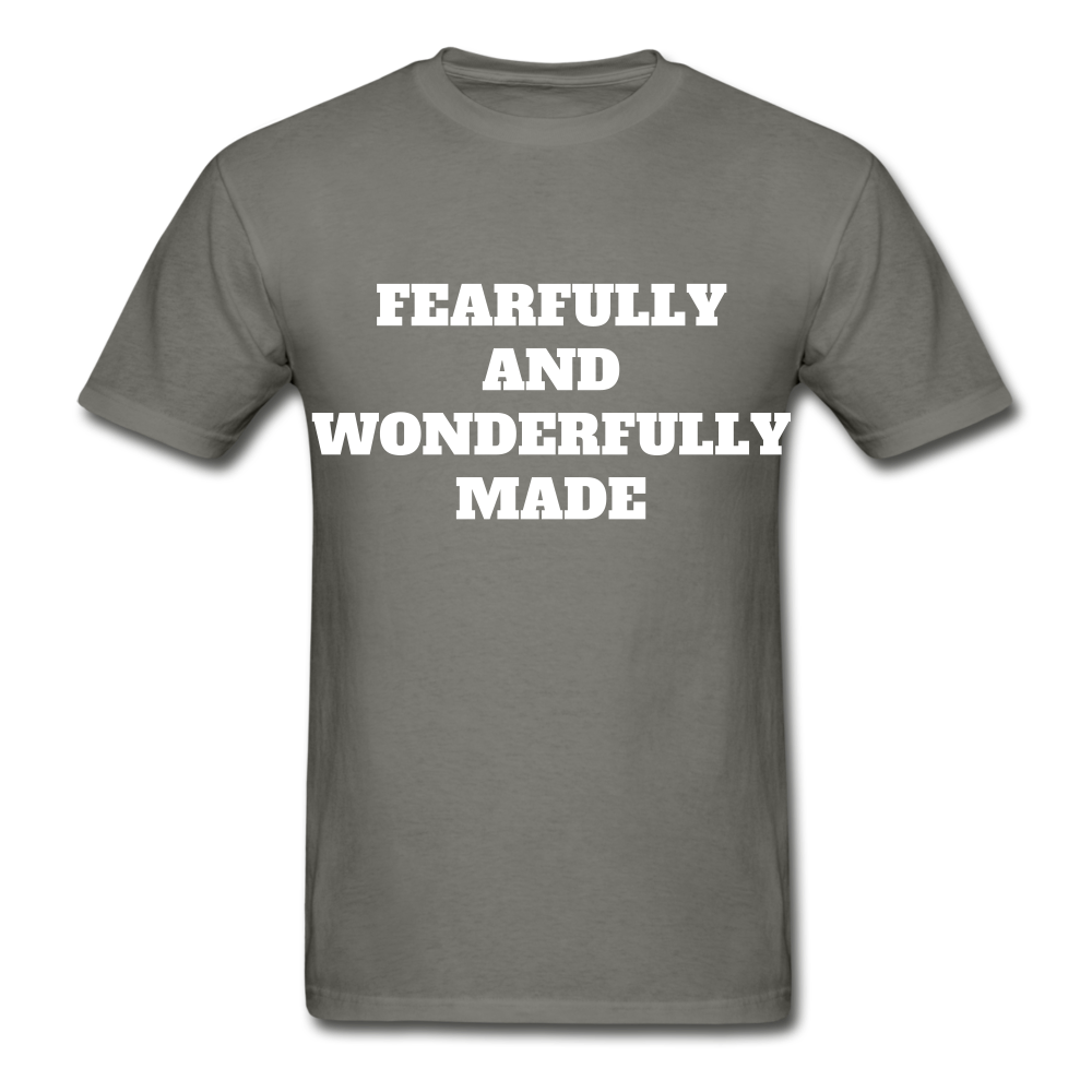 FEARFULLY AND WONDERFULLY MADE Ultra Cotton Adult T-Shirt - charcoal