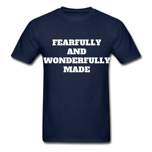 FEARFULLY AND WONDERFULLY MADE Ultra Cotton Adult T-Shirt - navy