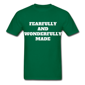 FEARFULLY AND WONDERFULLY MADE Ultra Cotton Adult T-Shirt - bottlegreen