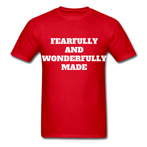 FEARFULLY AND WONDERFULLY MADE Ultra Cotton Adult T-Shirt - red